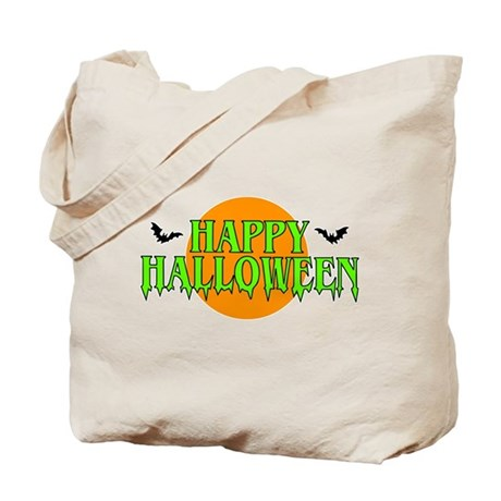 Happy Halloween with bats Tote Bag