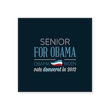 "Senior For Obama Square Sticker 3"" x 3"""