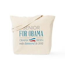 Senior For Obama Tote Bag