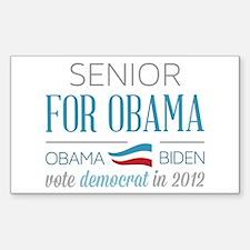 Senior For Obama Sticker (Rectangle)