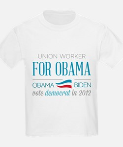 Union Worker For Obama T-Shirt