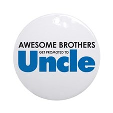 Cute New uncle Ornament (Round)
