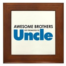 Cute New uncle Framed Tile