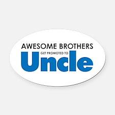 Unique Uncle Oval Car Magnet