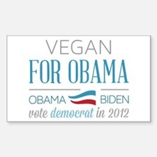 Vegan For Obama Decal