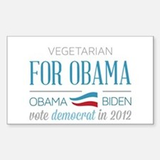 Vegetarian For Obama Decal