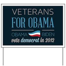 Veterans For Obama Yard Sign