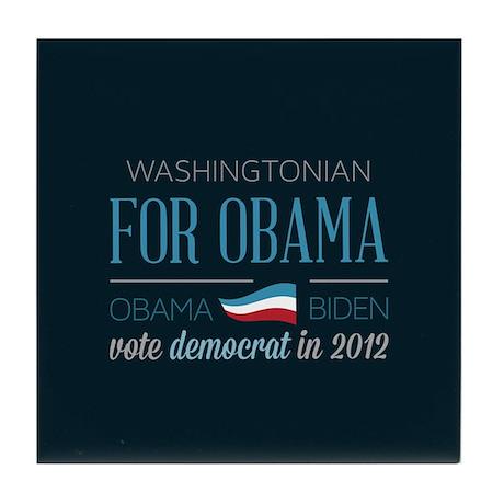 Washingtonian For Obama Tile Coaster