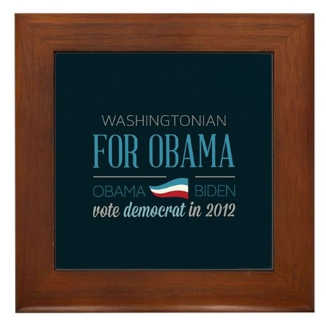 Washingtonian For Obama Framed Tile