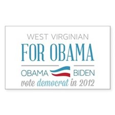 West Virginian For Obama Decal