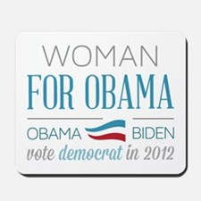 Woman For Obama Mousepad