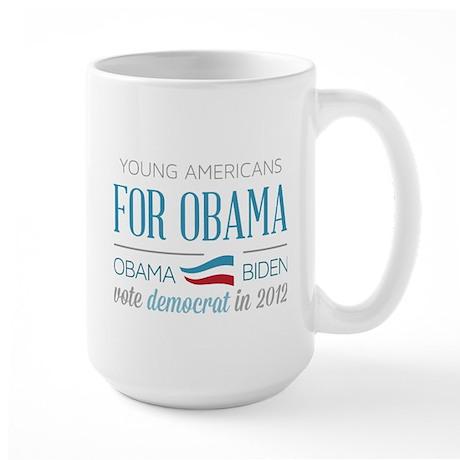 Young Americans For Obama Large Mug