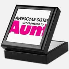 Awesome Sisters Get Promoted to Aunt Keepsake Box