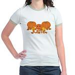 Halloween Pumpkin Katie Jr. Ringer T-Shirt