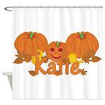 Halloween Pumpkin Katie Shower Curtain