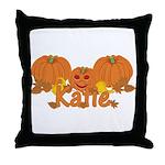 Halloween Pumpkin Katie Throw Pillow