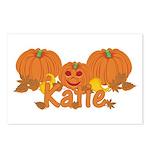 Halloween Pumpkin Katie Postcards (Package of 8)