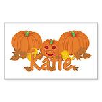 Halloween Pumpkin Katie Sticker (Rectangle)
