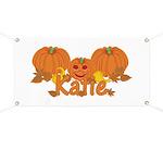 Halloween Pumpkin Katie Banner
