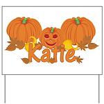 Halloween Pumpkin Katie Yard Sign