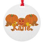 Halloween Pumpkin Katie Round Ornament