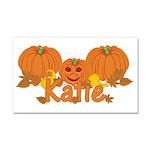 Halloween Pumpkin Katie Car Magnet 20 x 12