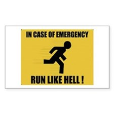 In case of emergency run like hell Decal