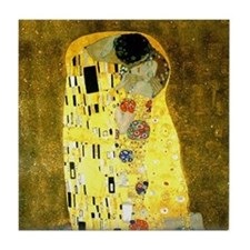 The Kiss Gustav Klimt Tile Coaster