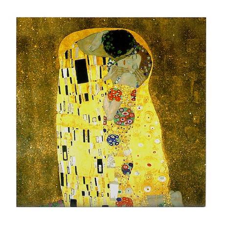 The Kiss Gustav Klimt Tile Coaster