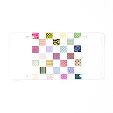 Rainbow Quilt Aluminum License Plate