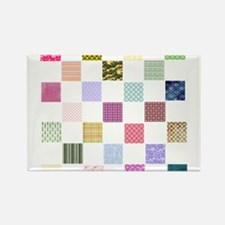 Rainbow Quilt Rectangle Magnet (10 pack)