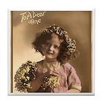 Vintage Girl Dear One Keepsake Tile Coaster