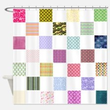 Rainbow Quilt Shower Curtain