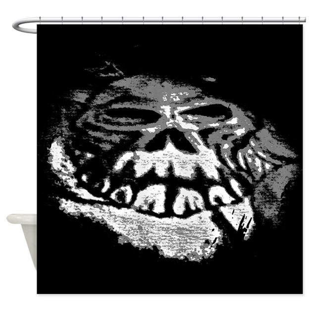 cool black and white skull art shower curtain by shopbydawn. Black Bedroom Furniture Sets. Home Design Ideas