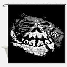 Cool Black And White Skull Art Shower Curtain