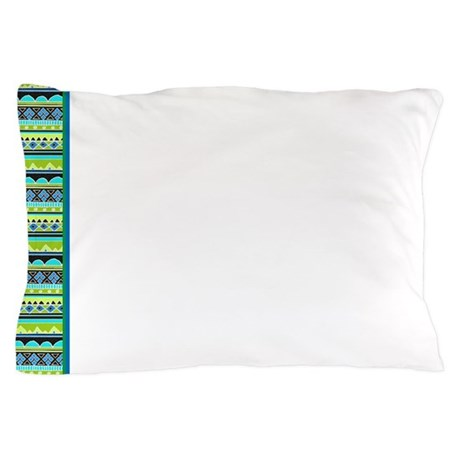 Bright Green Tribal pattern Pillow Case