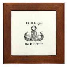 EOD Guys Do It Better Framed Tile