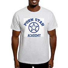 Porn Star Academy Ash Grey T-Shirt