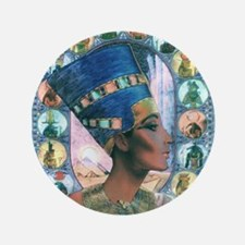 "Queen of Egypt Nefertiti 3.5"" Button (100 pack)"