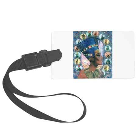 Queen of Egypt Nefertiti Large Luggage Tag