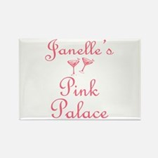 Janelle's Pink Palace Rectangle Magnet