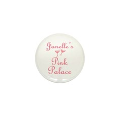 Janelle's Pink Palace Mini Button (10 pack)