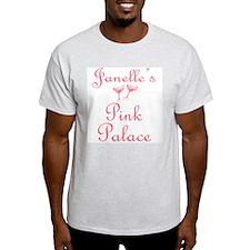 Janelle's Pink Palace Ash Grey T-Shirt