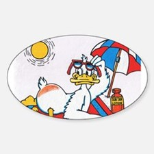 Summer Vacation/Fun Humor Sticker (Oval)