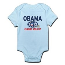 Obama 2012 T-shirts CHANGE ADDS UP Infant Bodysuit