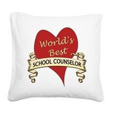 Cute School counselor Square Canvas Pillow