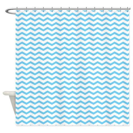 Light blue chevron shower curtain by inspirationzstore