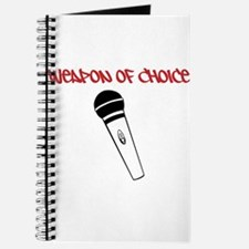 MC Weapon of Choice Microphone Journal