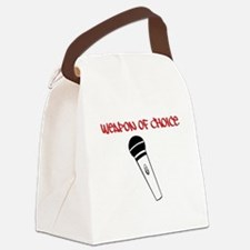 MC Weapon of Choice Microphone Canvas Lunch Bag