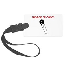 MC Weapon of Choice Microphone Luggage Tag